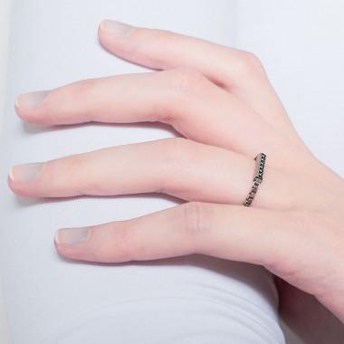 Jasmina Jovy Jewellery Printed Delusion RIBO01 Ring Silber