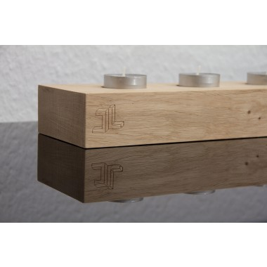 JL-Holz Kerzenhalter (Eiche unbehandelt)