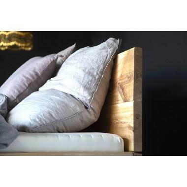 FraaiBerlin – Bett aus Esche Jaron mit Lehne und Schublade schwebend