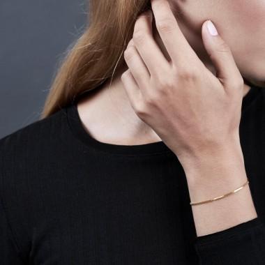 Jasmina Jovy Jewellery Hidden Faces Armband BRHF03 gold plated