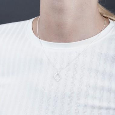 Jasmina Jovy Jewellery Hidden Faces Kette NEHF05 silver