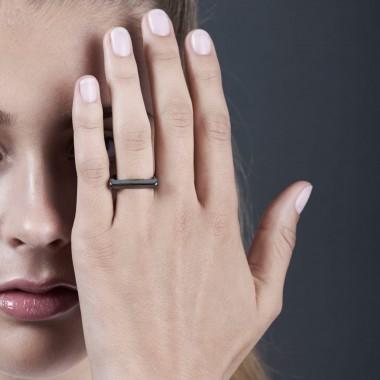 Jasmina Jovy Jewellery Hidden Faces RIHF04 Ring schwarz rhodiniert