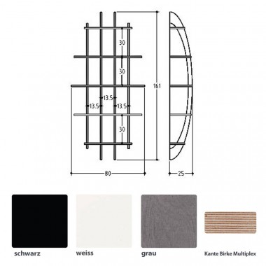 ellips design Wandregal Jive