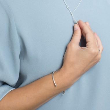 Jonathan Radetz Jewellery, Kette SCORE, Silber 925, Sterlingsilber, Länge 43 cm, Handmade in Germany