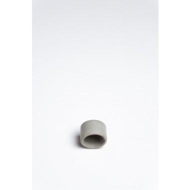 Klunkergrau Betonschmuck | Heller Ring aus Beton