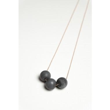 Klunkergrau Betonschmuck | 3x Große Perle aus Beton