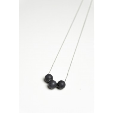 Klunkergrau Betonschmuck | 3x Kleine Perle aus Beton