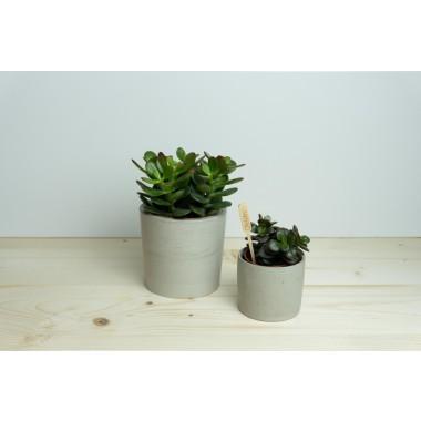 Klunkergrau Interior | Runder Übertopf / Behälter aus Beton
