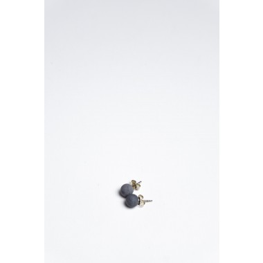 Klunkergrau   Perlenohrringe aus Beton