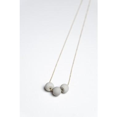 Klunkergrau Betonschmuck | Kleine Perlen aus Beton