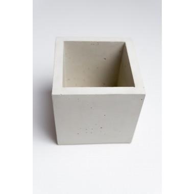 Klunkergrau Interior | Eckiger Übertopf / Behälter aus Beton