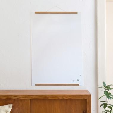 Die Magnetische Poster- und Bilderleiste Eiche 50 cm