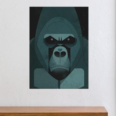 KLEINWAREN / VON LAUFENBERG Set / Gorilla Love + Posterleiste Eiche 50 cm