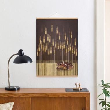 KLEINWAREN / VON LAUFENBERG Set / Fawn + Posterleiste Eiche 50 cm