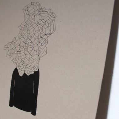 KLEINWAREN / VON LAUFENBERG Set 4 / Monsieur Visionaer (A2 Siebdruck Poster) + Posterleiste Ahorn A2
