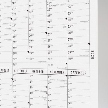 Der lange Wandkalender 2020
