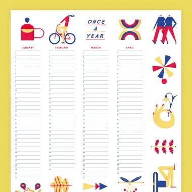 Wandkalender, zeitlos