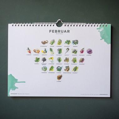 101 Sorten Saisonkalender für Obst und Gemüse in Farbe von Kupferstecher.Art