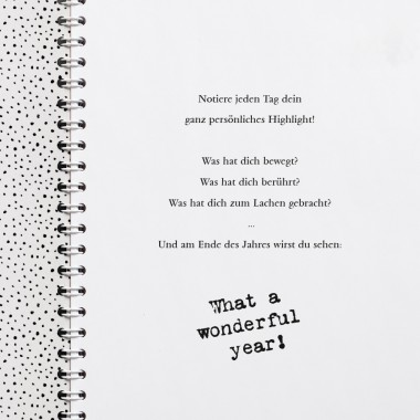 "Amy & Kurt Berlin A5 Kalender / Tagebuch ""Wonderful year"""