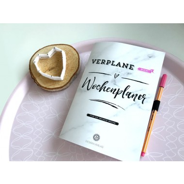 "Wochenplaner Notizbuch ""Verplane dich!"" - Aprikot"