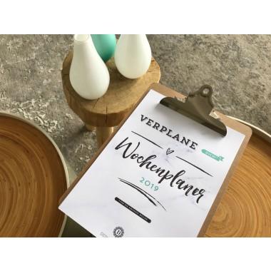 Handlettering Wochenplaner Kalender Klemmbrett / Flieder