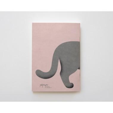 Notizheft A6 Graue Mieze // Papaya paper products