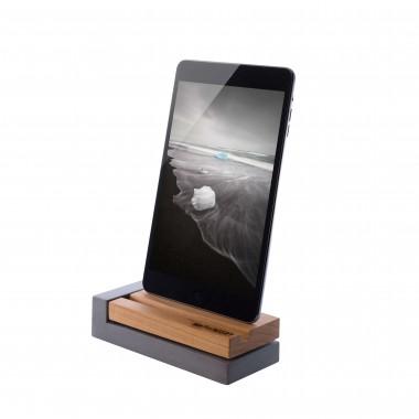 freiWERT Ladestation für iPhone aus Kirschholz und Beton