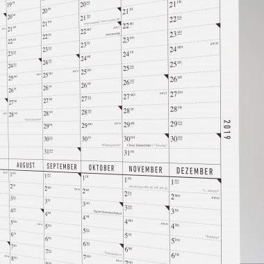 Der lange Wandkalender 2019