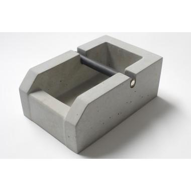rohes wohnen Espresso Knockbox aus Beton, Abschlagkasten aus Beton