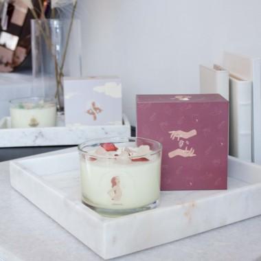 adorist - 3 Docht Duftkerze aus Sojawachs mit Kristallen Grounding-Selflove-Bergamot-Vertiver zum Durchatmen & Runterkommen