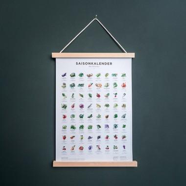 Saisonkalender Obst & Gemüse Poster in Farbe (erhältlich in Format A1, A2 und A3)