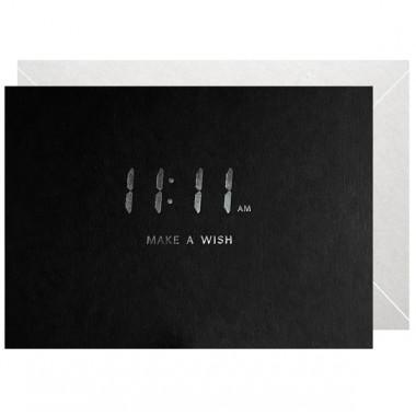 11:11 AM -  MAKE A WISH - A5 PRINT - LETTERPRESS