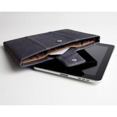iPad case Lachsleder, platin