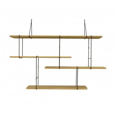LINK shelving system setup01 oak/black