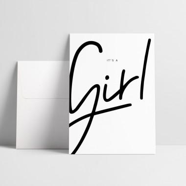 "Love is the new black – Grußkarte ""Girl"""