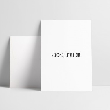 """Grußkarte """"Welcome little one"""""""