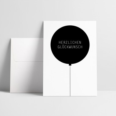 """Love is the new black – Grußkarte """"Herzlich"""""""