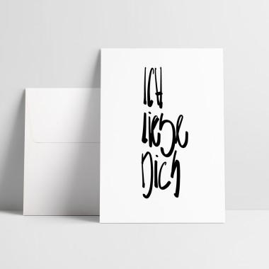 """Love is the new black – Grußkarte """"Ich Liebe Dich"""""""
