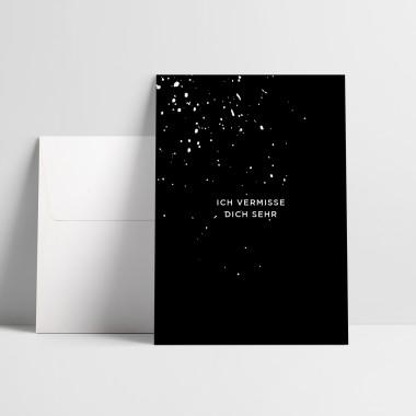 "Love is the new black – Grußkarte ""Ich vermisse dich"""