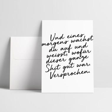 "Love is the new black – Grußkarte ""Eines Morgens"""