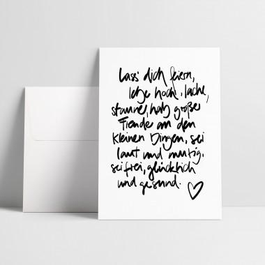 """Love is the new black – Grußkarte """"Lass Dich feiern"""""""