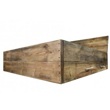 FraaiBerlin Bauholz Bett Langon, 2 große Schubladen