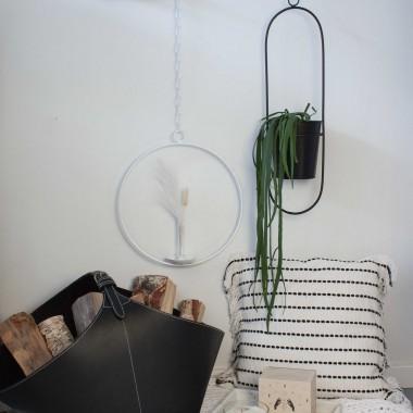 adorist - Dekoring mit Vase/Kerzenhalter Ijus Rund, weiß