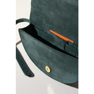 "LELLOR Halfmoon Bag ""Deep Hunter Green"""