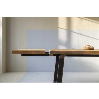 FraaiBerlin – Lidet/Loren Rohstahl 220 x 100 cm mit zwei Ansteckplatten á 50 cm
