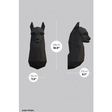 Lama - Vegane Tiertrophäe aus Papier im DIY Kit