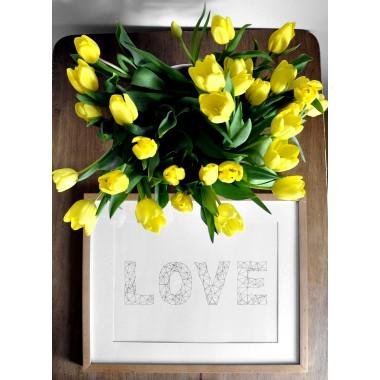 na.hili Set 3 x A3 Print WORDS ... JUMP FEEL LOVE YEAH