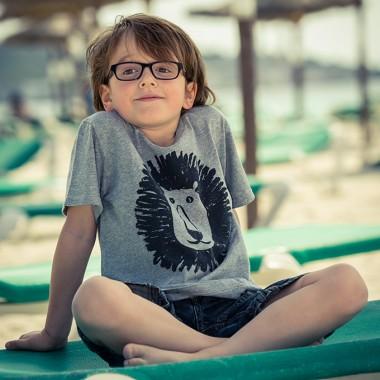 MIALI Bio-Baumwoll Shirt für Kleine / Löwe (grau)