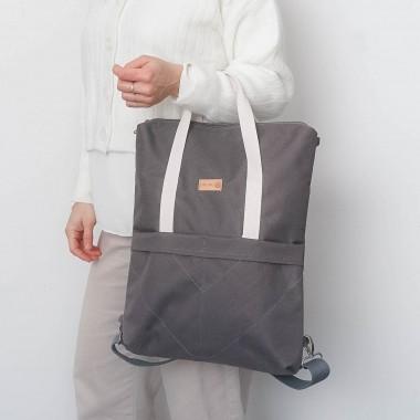 MULINU 3-in-1-Rucksack CLASSIC GRETA Grau