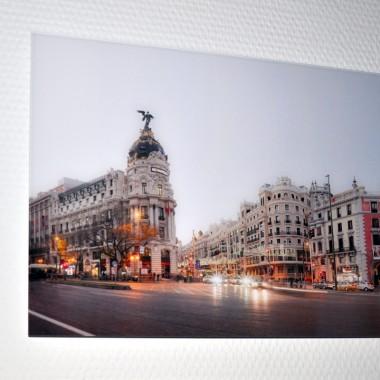 Madrid Calle de Alcala Streetline Gallery Print